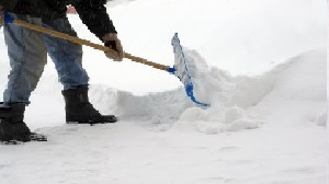 Snow Shoveling. Winter Aches and Pains.